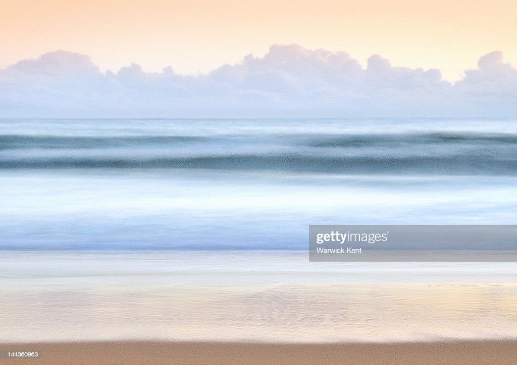 Manly Beach, ocean. looking east : Stock Photo