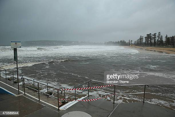 Manly Lagoon is seen at capacity on April 22 2015 in Sydney Australia Three people have died and more than 200000 are still without power as cyclonic...