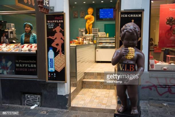 Manneken Pis replicas of the urinating boy statue in central Brussels Belgium Manneken Pis is a landmark small bronze sculpture in Brussels depicting...