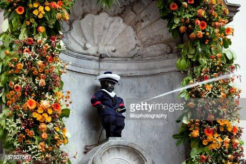 Mannekin Pis in Brussels Belgium