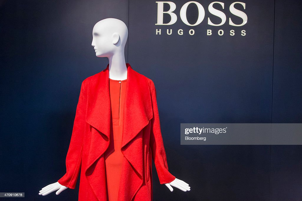 luxury clothing inside a hugo boss ag showroom getty images. Black Bedroom Furniture Sets. Home Design Ideas