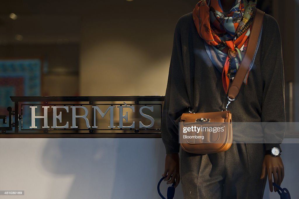 A mannequin stands in the window display of a Hermes International SCA luxury fashion clothing store in Toulouse, France, on Wednesday, Nov. 20, 2013. France's gross domestic product fell 0.1 percent in the three months through September, national statistics office Insee said in an e-mailed statement. Photographer: Balint Porneczi/Bloomberg via Getty Images