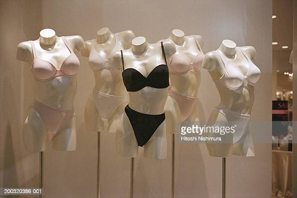 Mannequin wearing bra and panties