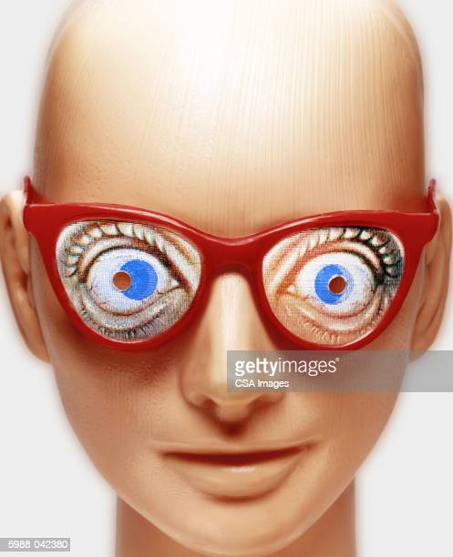 Mannequin Wearing Glasses