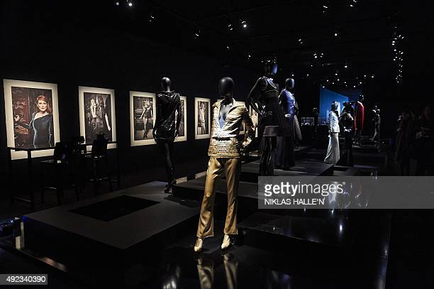 Mannequins display outfits and jewellery from French fashion house Chanel's 1932 collection during a pressview of 'Mademoiselle Privé' a joint...