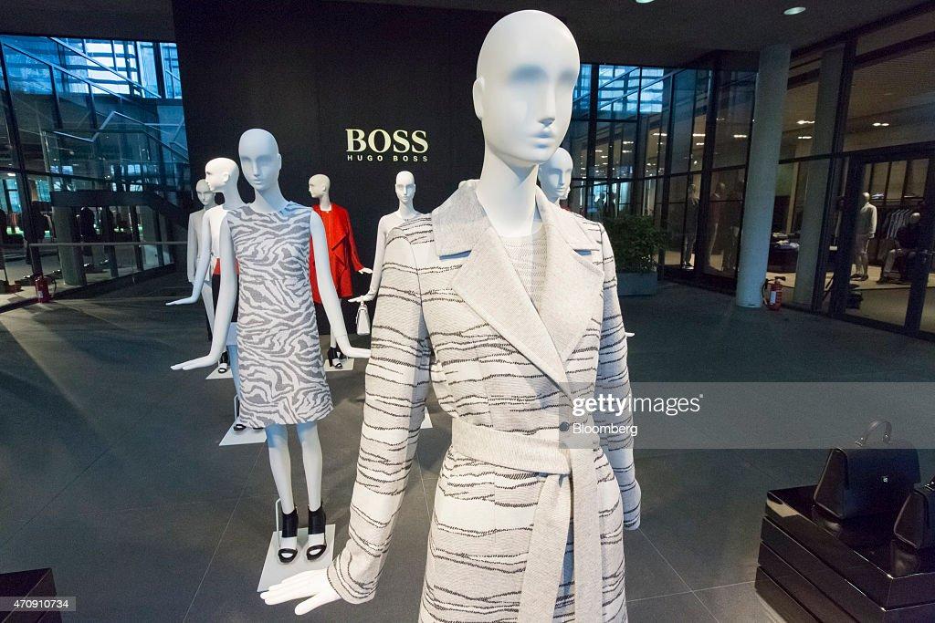 Luxury Clothing Inside A Hugo Boss AG Showroom