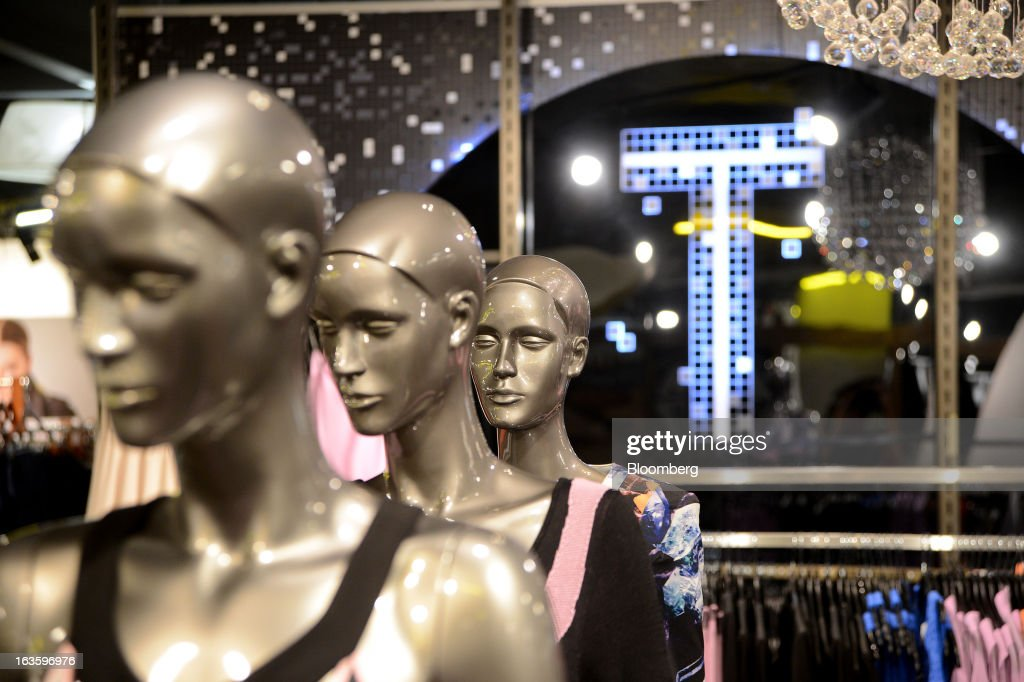 Mannequins displaying clothes from the Bettina Liano label stand inside Myer Holdings Ltd.'s Melbourne City store in Melbourne, Australia, on Wednesday, March 13, 2013. Myer is scheduled to release company results on March 14. Photographer: Carla Gottgens/Bloomberg via Getty Images