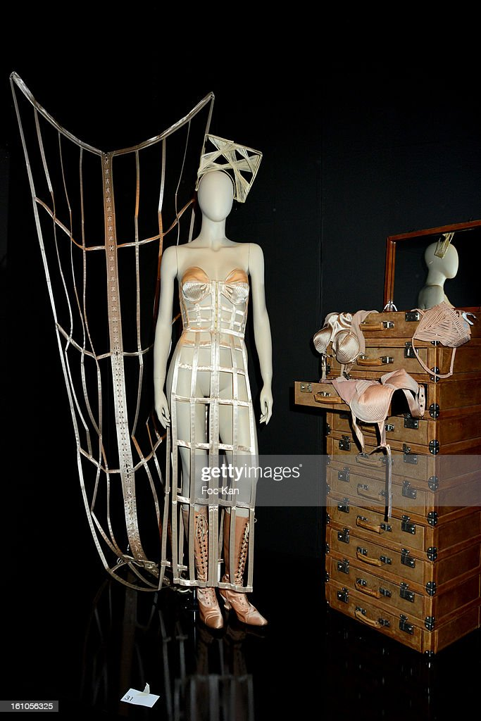 Mannequins dressed by Jean Paul Gaultier are exhibited during the 'Planete Mode' Exhibition Launch by Jean-Paul Gaultier at Kunsthal Museum on February 8, 2013, in Rotterdam, Netherlands.