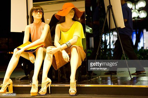 mannequins in a store