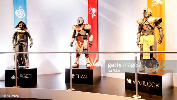 Mannequins of game characters are seen at the Gamescom 2017 gaming trade fair on August 22 2017 in Cologne Germany Gamescom is the world's largest...