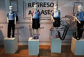 Mannequins of pregnant girls are displayed at a mall's window shop to increase public awareness of early pregnancy in Caracas on November 6 2014...