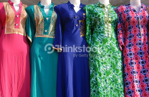 e6d948f47a Mannequinsdressed In Indian Salwar Kameez Women Dressin Front Of Retail Clothes  Shop Or Storehyderabadindia Stock Photo - Thinkstock