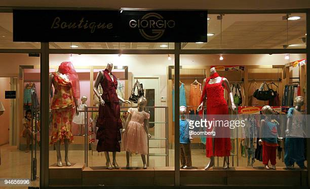 Mannequins's display clothing in the window of a boutique in Palco Mall in Miramar a luxury district in Western Havana Cuba Thursday September 20...