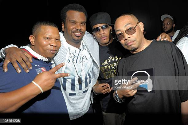 Mannie Fresh Craig Robinson Nelly and Fresh Kid Ice of 2 Live Crew attends the 2010 Vh1 Hip Hop Honors at Hammerstein Ballroom on June 3 2010 in New...