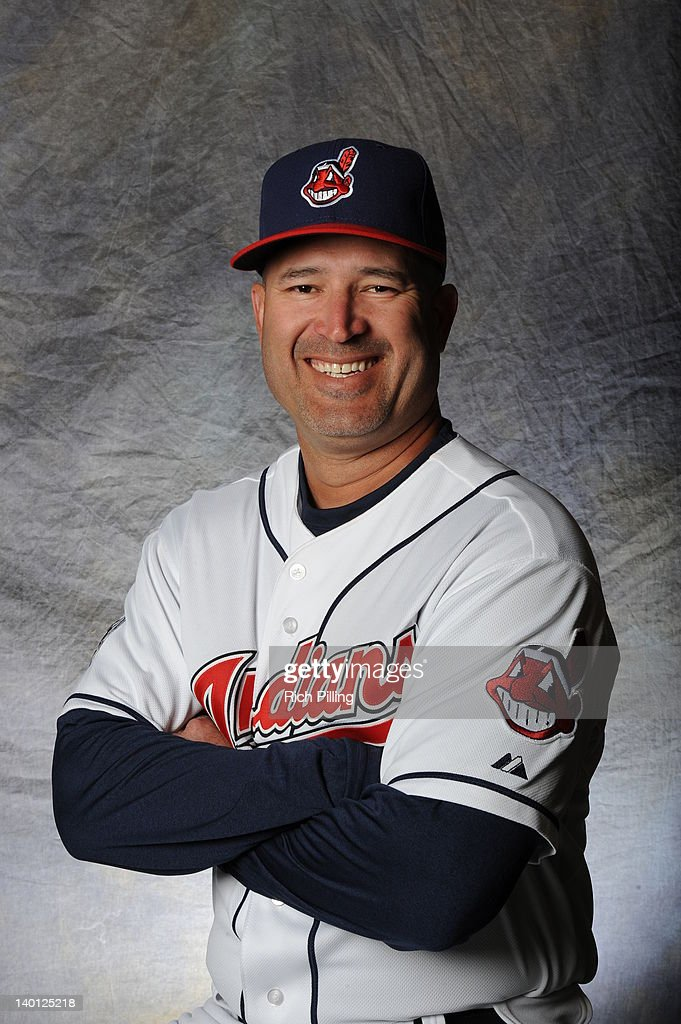 <a gi-track='captionPersonalityLinkClicked' href=/galleries/search?phrase=Manny+Acta&family=editorial&specificpeople=534537 ng-click='$event.stopPropagation()'>Manny Acta</a> #11 of the Cleveland Indians poses for a portrait during a photo day at Goodyear Ballpark on February 28, 2012 in Goodyear, Arizona.