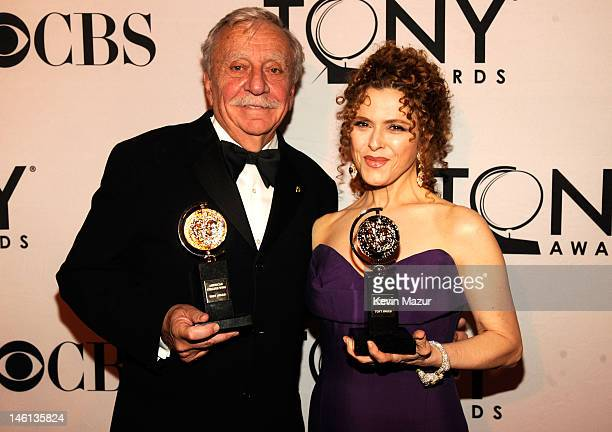 Manny Azenberg and Bernadette Peters attends the 66th Annual Tony Awards at The Beacon Theatre on June 10 2012 in New York City
