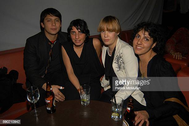 Manny Diaz Jasmin Shokrian Helena Fredriksson and Sosephine Shokrian attend After Party For Leigh Bowery Useless Man at Lot 61 on January 8 2005 in...