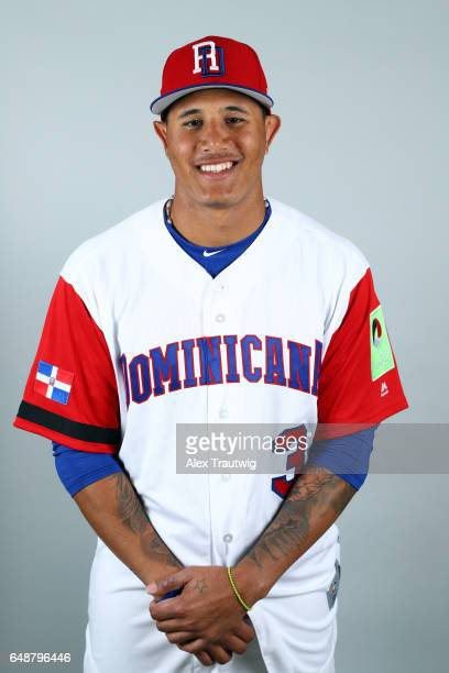 Manny Machado of Team Dominican Republic poses for a headshot for Pool C of the 2017 World Baseball Classic on Monday March 6 2017 at Pirate City in...