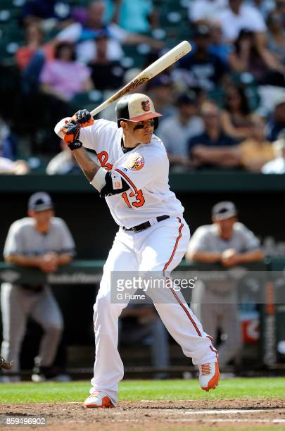 Manny Machado of the Baltimore Orioles bats against the New York Yankees at Oriole Park at Camden Yards on September 7 2017 in Baltimore Maryland