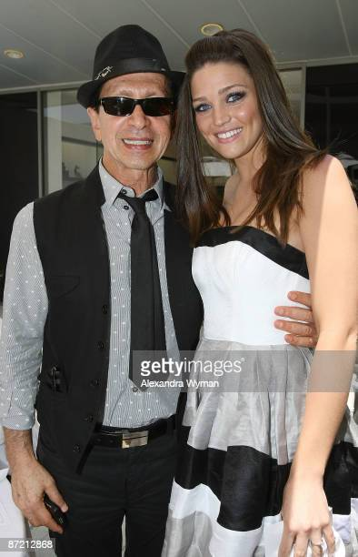 Manny Mashouf and winner Rachel Pisciotta at the announcement of Bebe's next 'It Girl' held at the Bebe store on May 13 2009 in Beverly Hills...