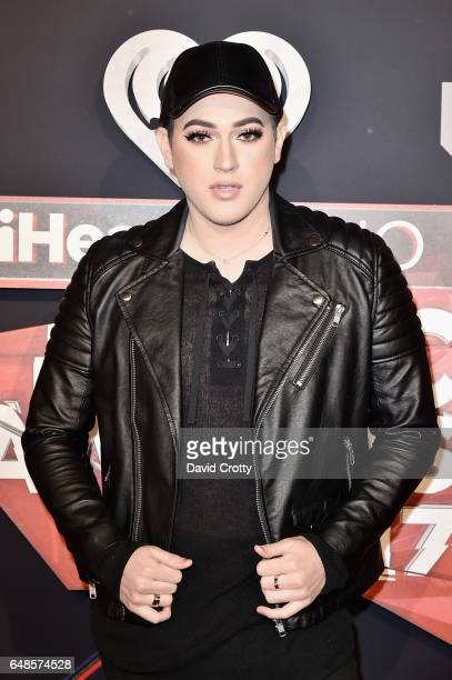 Manny Mua attends the 2017 iHeartRadio Music Awards Arrivals at The Forum on March 5 2017 in Inglewood California