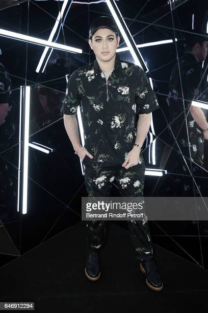 Manny Mua attends Yves Saint Laurent Beauty Party as part of the Paris Fashion Week Womenswear Fall/Winter 2017/2018 at Carre Des Sangliers on March...