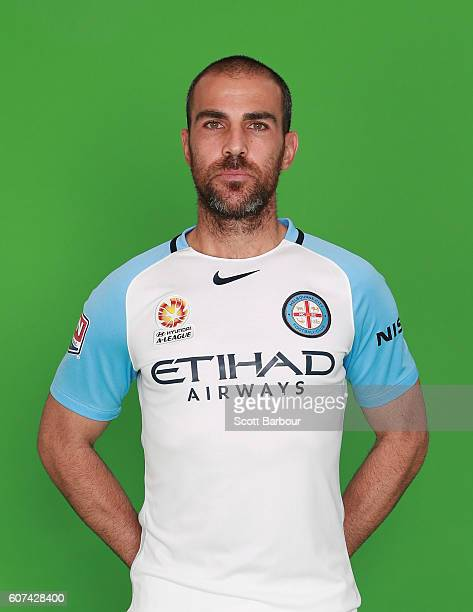 Manny Muscat poses during the Melbourne City FC ALeague headshots session on September 16 2016 in Melbourne Australia