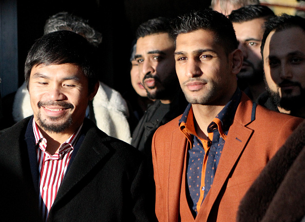 Manny Pacquiao & Amir Khan Hold Discussions About Possible Fight : News Photo