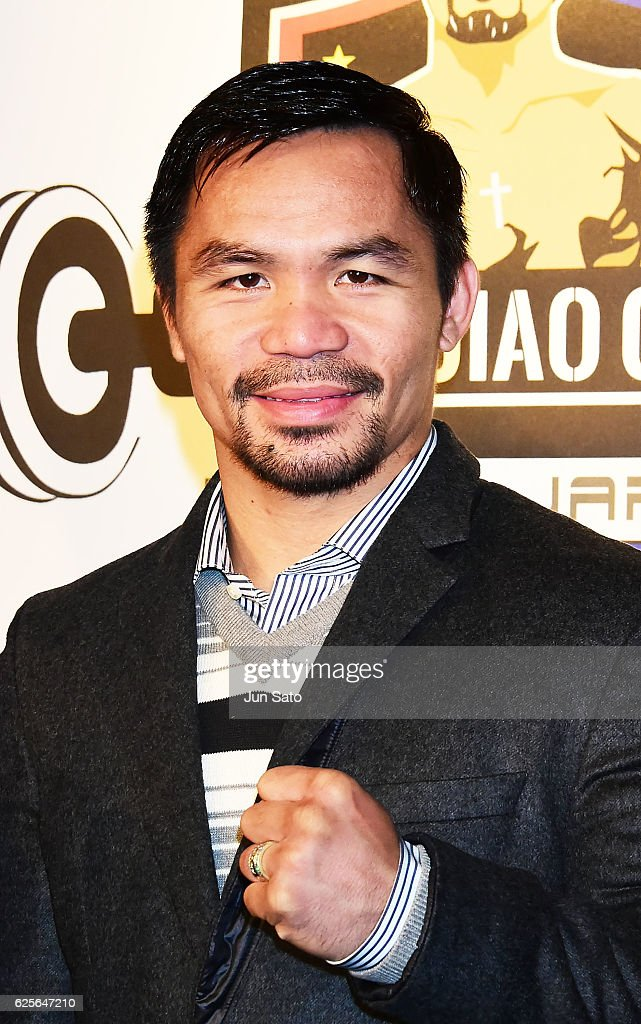 Manny Pacquiao attends the opening event for his boxing gym on November 25, 2016 in Tokyo, Japan.