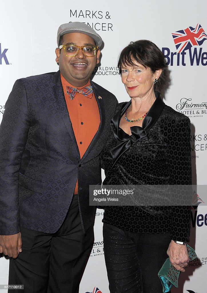 DJ Manny Patel (L) and actress <a gi-track='captionPersonalityLinkClicked' href=/galleries/search?phrase=Celia+Imrie&family=editorial&specificpeople=214754 ng-click='$event.stopPropagation()'>Celia Imrie</a> attend BritWeek's 10th Anniversary VIP Reception & Gala at Fairmont Hotel on May 1, 2016 in Los Angeles, California.