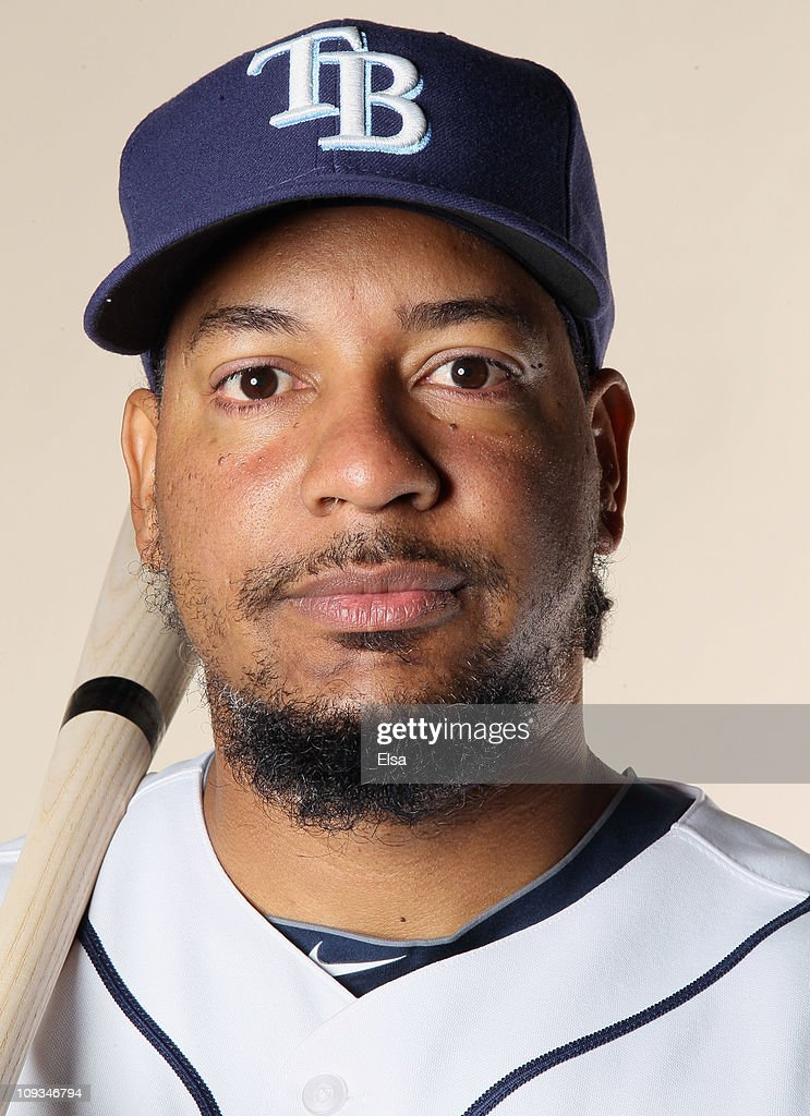 Manny Ramirez of the Tampa Bay Rays poses for a portrait during the Tampa Bay Rays Photo Day on February 22 2011 at the Charlotte Sports Complex in...