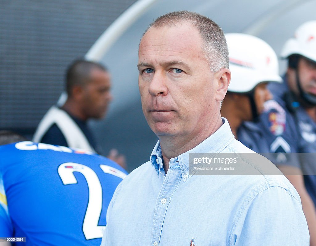 Mano Menezes, coach of Corinthians in action during the match between Corinthians and Criciuma for the Brazilian Series A 2014 at Arena Corinthians stadium on December 6, 2014 in Sao Paulo, Brazil.