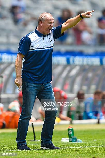 Mano Menezes coach of Cruzeiro a match between Cruzeiro and Fluminense as part of Brasileirao Series A 2015 at Mineirao stadium on October 18 2015 in...