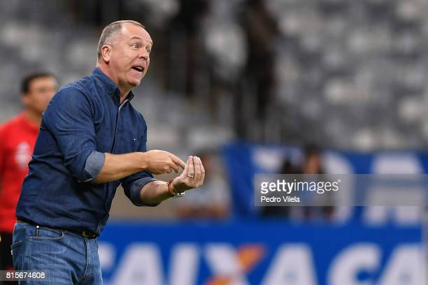 Mano Menezes coach of Cruzeiro a match between Cruzeiro and Flamengo as part of Brasileirao Series A 2017 at Mineirao stadium on July 16 2017 in Belo...