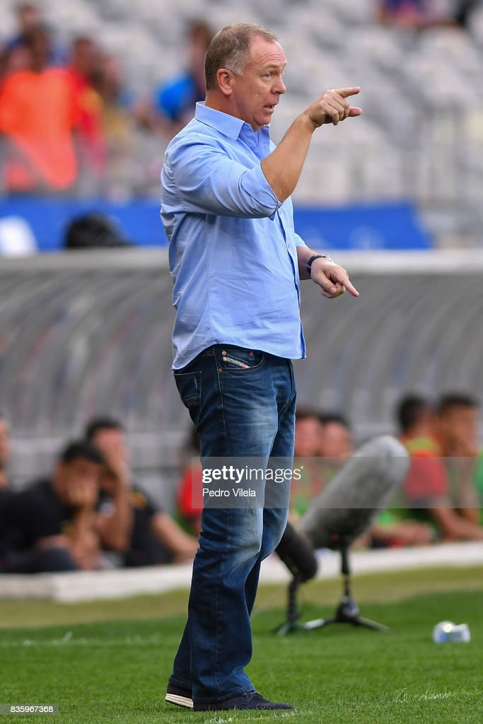 Mano Menezes coach of Cruzeiro a match between Cruzeiro and Sport Recife as part of Brasileirao Series A 2017 at Mineirao stadium on August 20, 2017 in Belo Horizonte, Brazil.