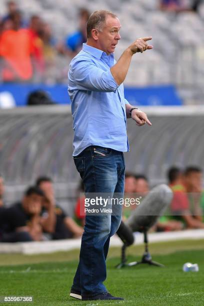 Mano Menezes coach of Cruzeiro a match between Cruzeiro and Sport Recife as part of Brasileirao Series A 2017 at Mineirao stadium on August 20 2017...