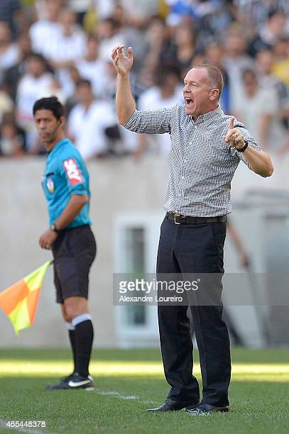 Mano Menezes Head Coach of Corinthians in action during the match between Flamengo and Corinthians as part of Brasileirao Series A 2014 at Maracana...