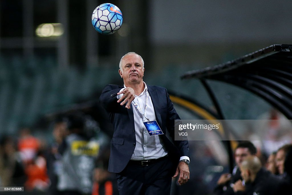 Mano Menezes, head coach of Shandong Luneng guides during the AFC Champions League match between Sydney and Shandong Luneng at Allianz Stadium on May 25, 2016 in Sydney, Australia.