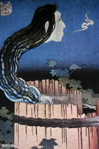 'Manoir aux assiettes' estampe japonaise de la série 'Cent contes de fantômes' de Katsushika Hokusai