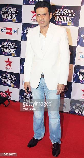 Manoj Bajpai during 'BIG Star Awards 2011' at Bhavan's college ground in Mumbai on December 19 2011