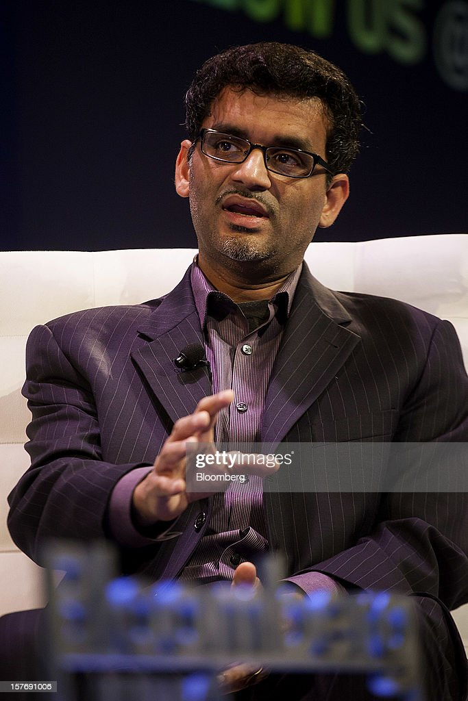 Manoj Narang, founder and chief executive officer of Tradeworx Inc., speaks during the Bloomberg Hedge Funds Summit in New York, U.S., on Wednesday, December 5, 2012. The Bloomberg Hedge Funds Summit convenes managers and investors to discuss the impact of the European debt crisis on the global markets and break down the fundamentals driving volatility in the equity markets. Photographer: Michael Nagle/Bloomberg via Getty Images
