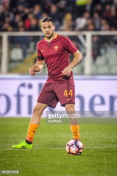 Manolas Konstantinos during the Italian Serie A football match Pescara vs Roma on April 24 in Pescara Italy