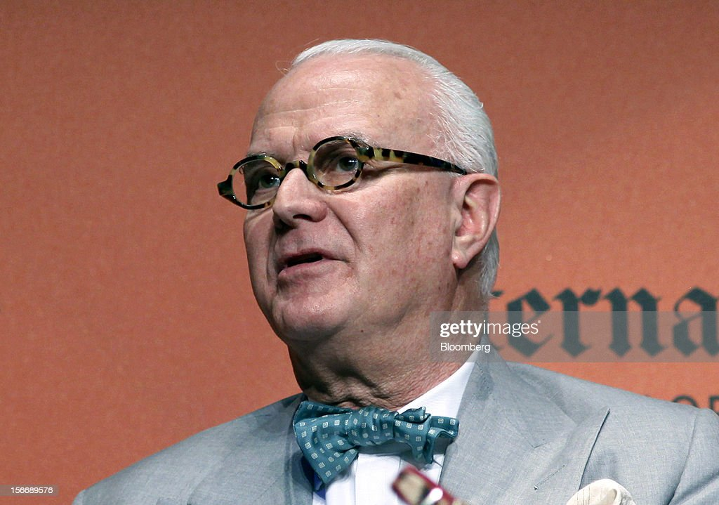 Manolo Blahnik, a shoe designer, speaks during the 2012 Luxury Roma conference at the Rome Cavalieri hotel in Rome, Italy, on Friday, Nov. 16, 2012. The euro-area economy succumbed to a recession for the second time in four years as governments imposed tougher budget cuts and leaders struggled to contain the debt crisis that broke out in October 2009. Photographer: Alessia Pierdomenico/Bloomberg via Getty Images