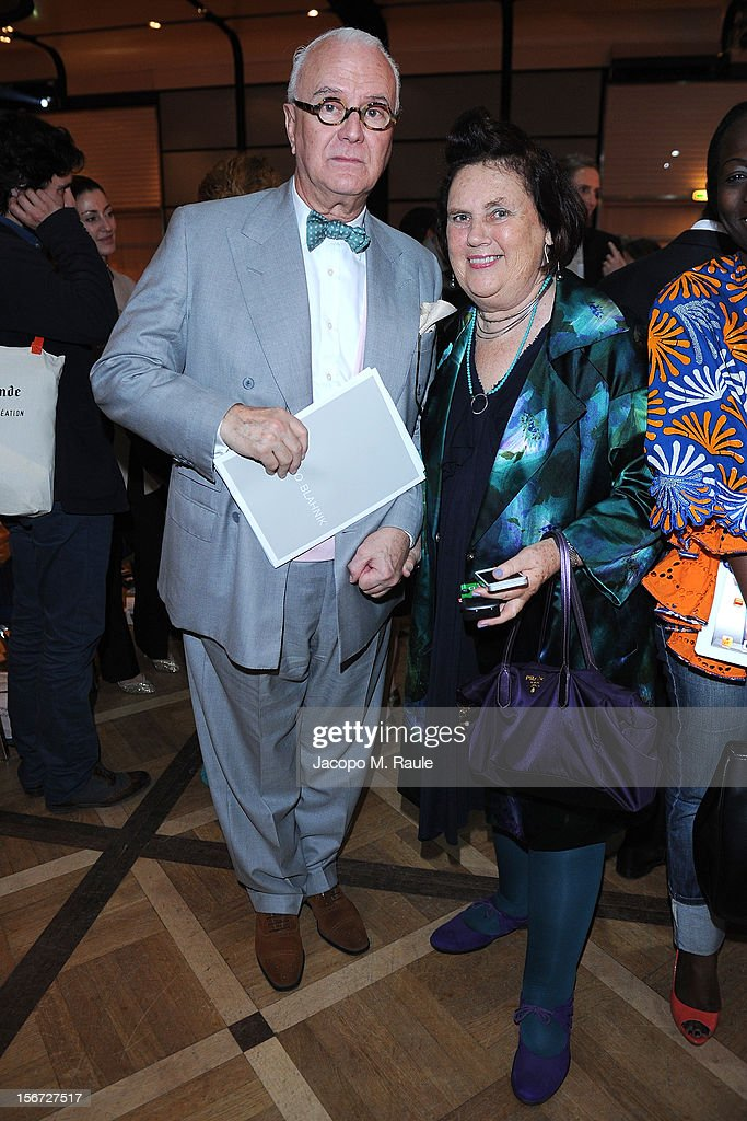 Manolo Blahnik and Suzy Menkes, International Herald Tribune Fashion Editor attend the third day of the 2012 International Herald Tribune's Luxury Business Conference held at Rome Cavalieri on November 16, 2012 in Rome, Italy. The 12th annual IHT Luxury conference is the premier meeting point for the luxury industry. 500 delegates from 30 countries have gathered in Rome to hear from the world's most inspirational fashion designers and luxury business leaders.