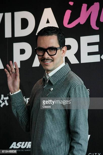 Manolo Caro poses during the presentation of the movie 'La Vida Inmoral de la Pareja Ideal' on October 17 Mexico City Mexico