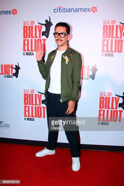 Manolo Caro poses for the camera during the opening night of Billy Elliot Music Show on February 15 2017 in Mexico City Mexico