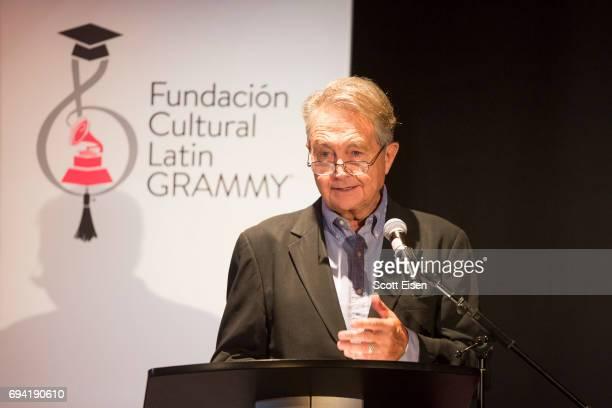 Manolo Diaz Senior Vice President of Latin GRAMMY Culutural Foundation at Berklee College of Music on June 9 2017 in Boston Massachusetts
