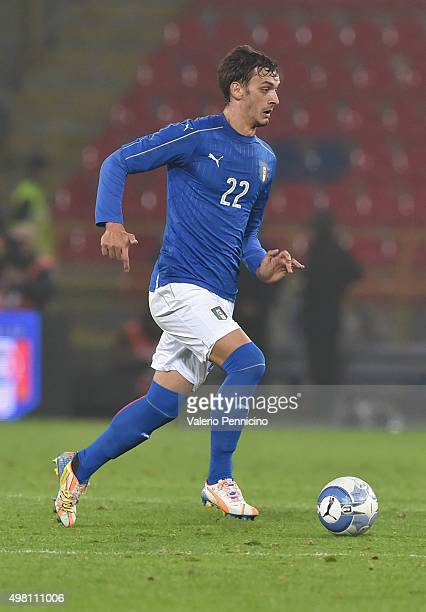 Manolo Gabbiadini of Italy in action during the international friendly match between Italy and Romania at Stadio Renato Dall'Ara on November 17 2015...