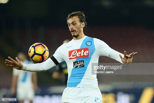 Manolo Gabbiadini of Napoli during the Serie A match between SSC Napoli and FC Internazionale at Stadio San Paolo on December 2 2016 in Naples Italy