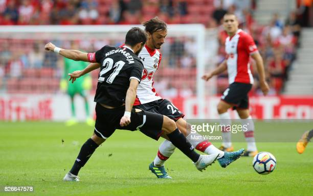 Manolo Gabbiadini of Southampotn during the preseason friendly between Southampton FC and Sevilla at St Mary's Stadium on August 5 2017 in...